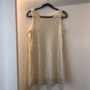 H&M Fully Sequined Cream Dress